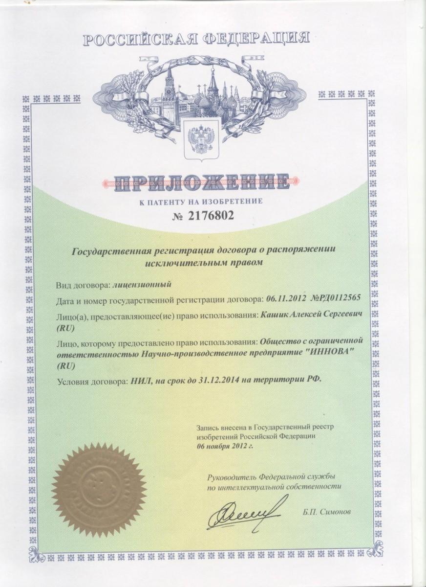 Приложение к Лицензионному договору