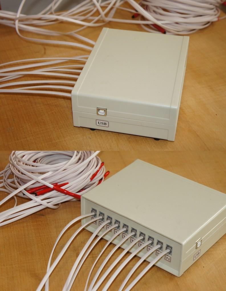 Контроль температуры в инкубаторе 10 датчиков