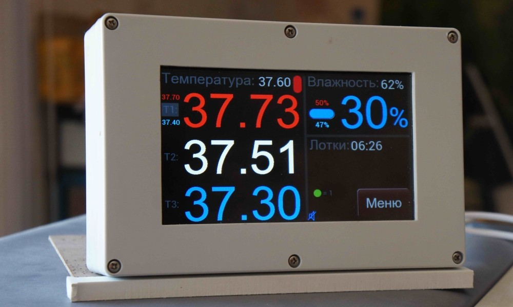 Цветная сенсорная панель для блока управления инкубатором