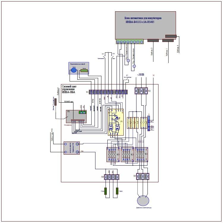 Схема подключения силового щита ЩУ-101
